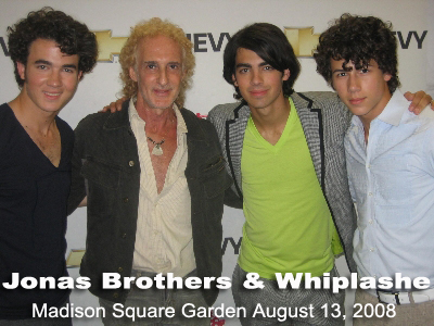 Jonas Brothers & Whiplashe Backstage Madison Square Garden August 13,2008